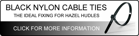 Cable Ties are Ideal for Fitting Hazel Hurdles