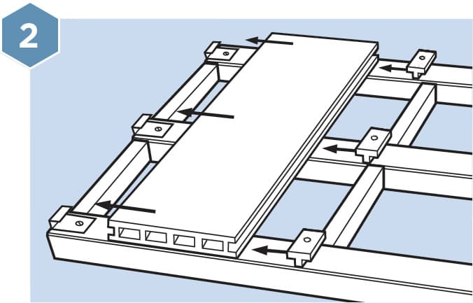 HD Composite Decking Fitting Guide - Step 2