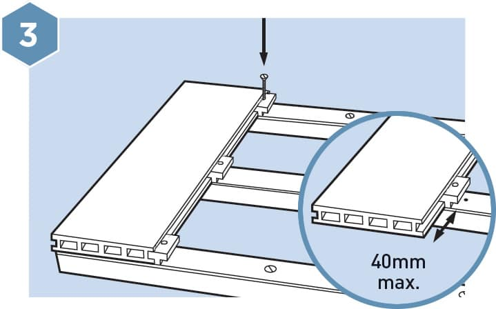 HD Composite Decking Fitting Guide - Step 3